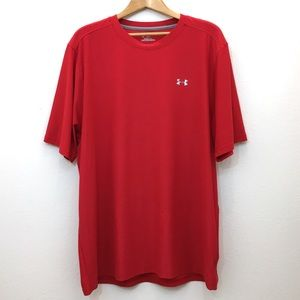 Under Armour heat gear short sleeve red tee XL